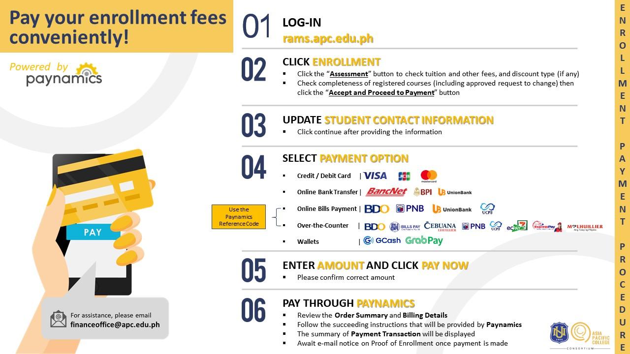 APC Enrollment Payment Process through Paynamics v2