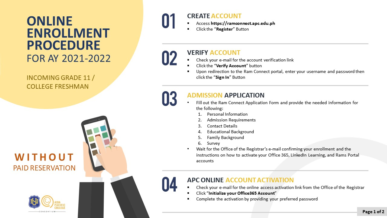 APC Enrollment Procedure_NEW Incoming Grade 11 Freshmen v2.5 - poster 1