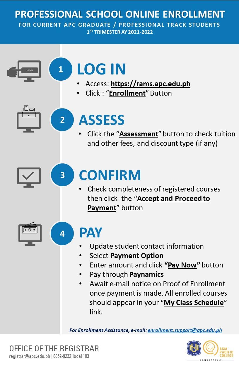 PS Online Enrollment Flow (AY 2021-2022 Term 1) v.3